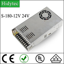 Competitive price S-180-12V 24V Single Output Switching power supply for LED Strip light smps
