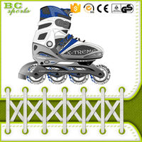 PU wheel bearing flashing roller skate shoe for adults