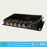 Mini front/rear/left/right hd cmos car backup auto camera video splitter box 360 degree car camera system XY-6028