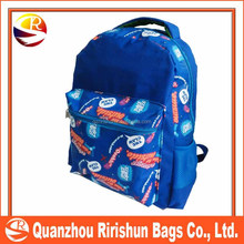 Blue fashion City Backpack,Hot Selling Colourful design 600D promotional backpack