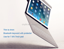 Ultra-thin Wireless Bluetooth Keyboard PU Leather Case For iPad Pro/Air 2/mini4