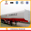 2015 Hot sale 42000 Liters fuel tank semi trailer/tri axles oil tanker trailer /oil transport tank trailer