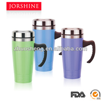 16oz double wall stainless steel travel mug with handle