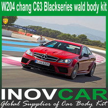 2011-2013 W204 change C63 BlackSeries wald lip spoiler parts, racing exhaust For W204 bodykits(lip kits /side fender)