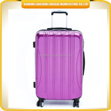 hard abs pc trolley suitcase raw material imported high quality hard abs pc trolley cases with aluminum trolley