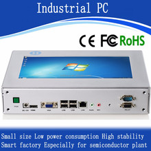 Low consumption screen fanless mini industrial pael pc X86 i3