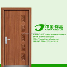 Plan design white plywood door pvc interior cupboard door
