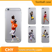 ultra thin American Football Player tpu soft clear printed cell phone case cover for iphone 6