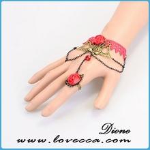 bracelet ring set lace cuff