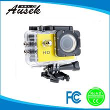 High Quality Mini Action Camera 720p sport dv for helmet, skiing , diving, biking