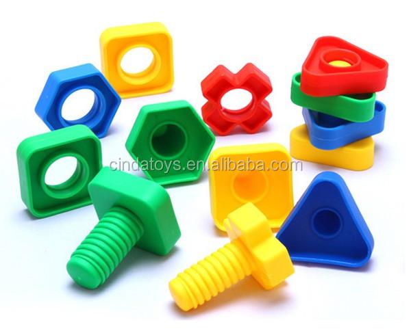 juego de la escuela juego juguetes educativos aclare al tornillo de bloques de construccin de plstico