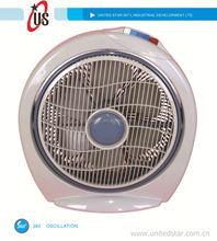 8inch/10inch/12inch box fan turbo fan 16 inch box fan with 360 oscillation