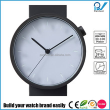 Newest design pvd black stainless steel case sapphire glass alabaster dial japanese wrist watch brands