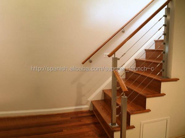 Tensor de cable de acero inoxidable cable pasamano para for Pasamanos para escaleras interiores