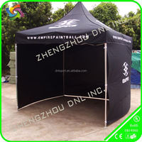 3x3m black 40mm outleg steel frame folding tent with 3 walls