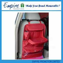 Rose red promotion woven fashionable popular high quality kids car seat organizer