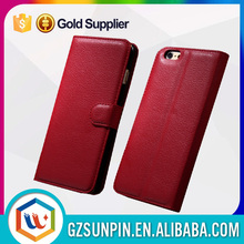 hot selling shockproof custom luxury flip wallet pu genuine leather phone case