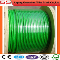 construction steel rope/ship hoisting steel rope PVC coated steel rope/Galvanized Hoisting Cable/Polymer steel Wire Rope