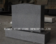 American Light Gray Die P5 Serp Top Monument & Tombstone