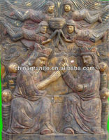 wood wall relief sculpture