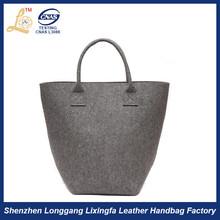 High Quality ladies new design Wool felt tote bag,wholesale wool felted bags