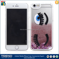swimming fish flowing star eyes liquid floating 3d phone case for iphone 6 Case for mobile phone