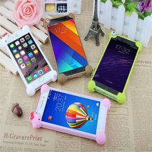 Promotional Christmas Gift Hot sell universal silicone 3D cartoon bumper case, rubber bumper case phone frame cases