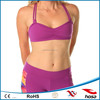 Orchid Purple bamboo active wear custom women's fitness bra