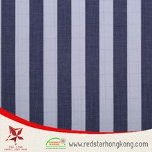 High quality Navy Blue and Grey Cotton Strip Plaid Fabric for curtain