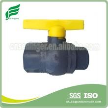 Hot-sale PVC ball valve female x male