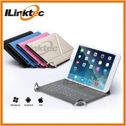 for ipad mini PU leather case build in wireless bluetooth keyboard bcm20730