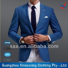 sólido de color azul real traje