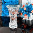 Decorativo acrílico transparente vaso, decoração do escritório