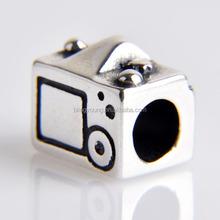 European 925 sterling silver camera charm