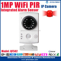 Support App Onvif Night Vision Wireless Small White Wifi Camera With CE/ROHS