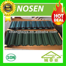 0.4mm thickness green back stone coated roofing tile