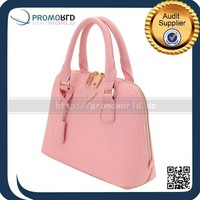 Colorful Leather Cosmetic Hand genuine women's leather bag ladies