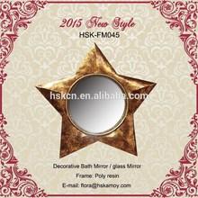 forma de estrella antiguo espejo decorativo espejo de la pared marco
