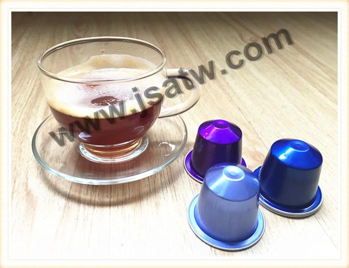 aluminium nespresso compatible capsules de caf pour. Black Bedroom Furniture Sets. Home Design Ideas