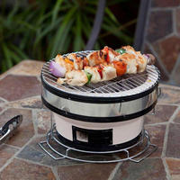 ceramic smoker indoor charcoal bbq grill mini ceramic bbq grill