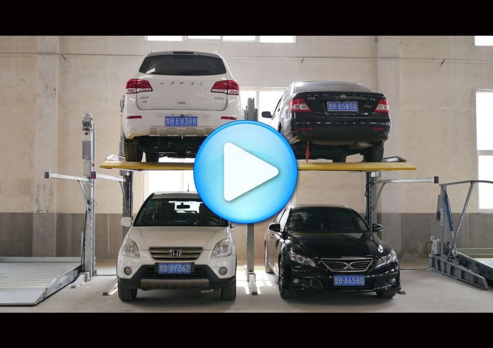 2700 КГ Гарантия 3 Год Два Гидравлических Пост Двухместный Автомобиль Парковка Лифт