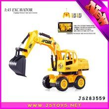Nuovo arrivo rc costruzione camion giocattolo escavatore, modalità di lavoro remote per i bambini