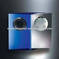 Noble Luxurious Optical Crystal Clock Globe Items