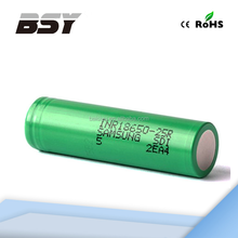 High quality 18650 cylindric battery 1x18650 lithium rechargeable battery Samsung li ion battery 25R green samsung 25R