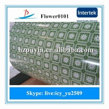 New flower design pattern ppgi for boxes build construct material /color coated steel coils/color roof ppgi coils in Zhejiang