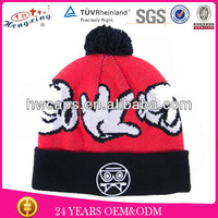 Unisex Winter Popular Acrylic With Tassel Beanies Knit Hat Manufacturers