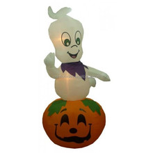 holiday theme inflatable/ halloween inflatable/9 Foot Animated Halloween Inflatable Ghost on Pumpkin