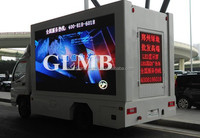 Video display advertisement car, Outdoor Advertising Mobile Digital LED Video