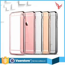 New Electroplating highlight TPU clear case for iphone 6 ultra thin TPU case