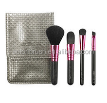 high quality makeup brush colorl cosmtetic bruh set makeup brush with black bag
